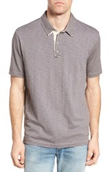 True Grit Men's Slub Jersey Polo Vintage Grey