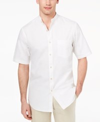 3943a962d09 Club Room Men's Banded Collar Shirt Created For Macy's Bright White