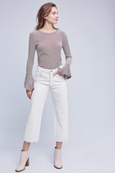 Anthropologie Citizens Of Humanity Cora Ultra High Rise Crop Jeans Ivory