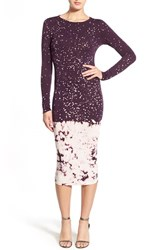 Young Fabulous And Broke Women's Young Fabulous And Broke 'Lulu' Jersey Midi Dress Marsala Splatter