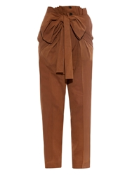 Jonathan Saunders Macy Tie Front Carrot Leg Cotton Voile Trousers