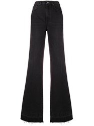 Givenchy Fitted Flared Jeans Black