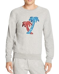 Marc Jacobs Sequined Palm Trees Heathered Sweatshirt Medium Gray Melange