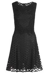 Quiz Black High Neck Skater Dress Black