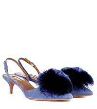 Aquazzura Powder Puff Slingback Pumps Blue