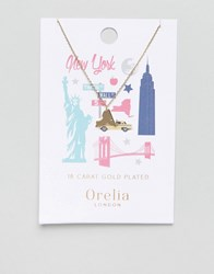 Orelia New York State Necklace Gold