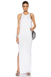 Mikoh High Neck Maxi Dress With Side Slit In White