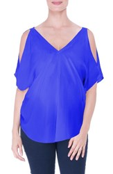 Olian Women's Cold Shoulder Matenity Top Royal Blue