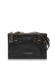 Francesco Biasia Hampstead Onyx Leather Crossbody Bag Black