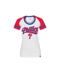 5Th And Ocean Women's Philadelphia Phillies Athletic Foil T Shirt White Red