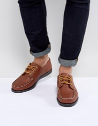 Eastland Falmouth Leather Boat Shoes In Tan Tan Brown