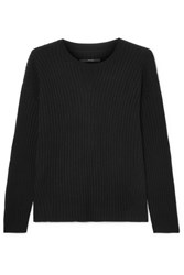 J Brand Tiffany Ribbed Cashmere Sweater Black