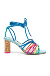 Sophia Webster Leather Copacabana Mid Sandals In Blue Green Pink Blue Green Pink