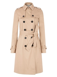 Hobbs London Saskia Trench Coat Natural
