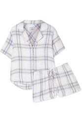 Rails Checked Flannel Pajama Set Blue