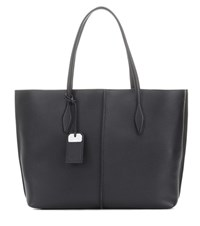Tod's Leather Shopper Black