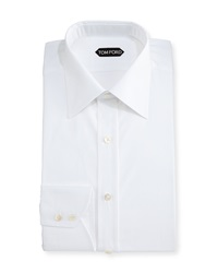 Tom Ford Classic Barrel Cuff Dress Shirt White