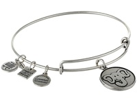 Alex And Ani The Elephant Charm Bangle Rafaelian Silver Finish Bracelet