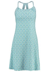 Prana Quinn Jersey Dress Dragonfly Botanica Turquoise