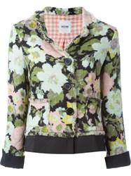 Moschino Vintage Woven Flower Print Jacket Multicolour