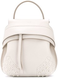 Tod's Wave Backpack White