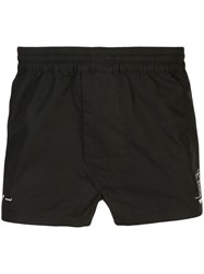 Off White X Hirshleifers Pajama Shorts Black