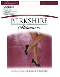 Berkshire Plus Queen Control Top Shimmer Pantyhose 15 Denier Ivory