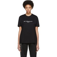 Givenchy Black Blurred Paris T Shirt 001 Black