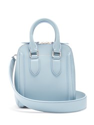 Alexander Mcqueen Heroine Small Leather Cross Body Bag Light Blue