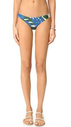 Mikoh Zuma Full Bikini Bottoms Vintage Tahiti Forest