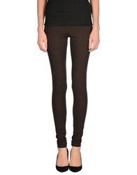 Twin Set Simona Barbieri Leggings Dark Brown