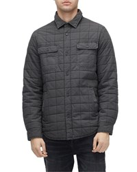 Ugg Trent Quilted Shirt Jacket Off Black