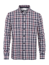 Weird Fish Country Check Shirt Dark Navy