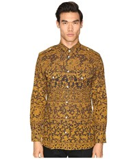 Vivienne Westwood Printed Mussola Military Shirt Gold Lace Men's Clothing Multi