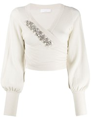 P.A.R.O.S.H. Wrap Style Front Jumper Neutrals