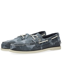 Sperry Topsider Authentic Original 2 Eye Chambray Camo