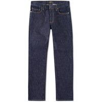 Beams Plus 5 Pocket Jean Blue