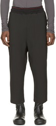 Damir Doma Black Casual Cropped Trousers