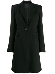 Pinko Tailored Midi Coat Black
