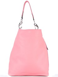 Paul Smith Slouchy Tote Women Leather One Size Pink Purple