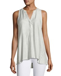 Soft Joie Carley B Sleeveless Striped Top White