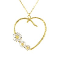 Alex Monroe Heart And Flower Pendant Necklace Gold Silver