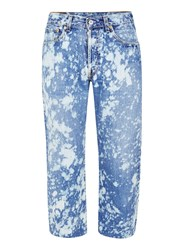 Topman Finds Blue Subtle Acid Bleached Cropped Jeans