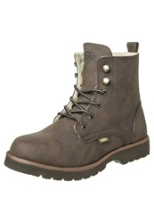 Buffalo Laceup Boots Brown