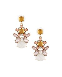 Fragments For Neiman Marcus Mixed Cut Crystal Statement Earrings Multi
