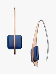 Skagen Seaglass Drop Hook Earrings Rose Gold Blue Skj1135791