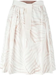 Woolrich Printed A Line Skirt White