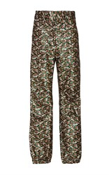 Sea Floral Lame Track Pant Green