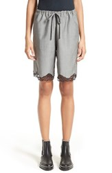 Alexander Wang Women's Lace Trim Wool Board Shorts