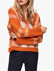 Selected Femme Charlee Check Jumper Hawaiian Sunset